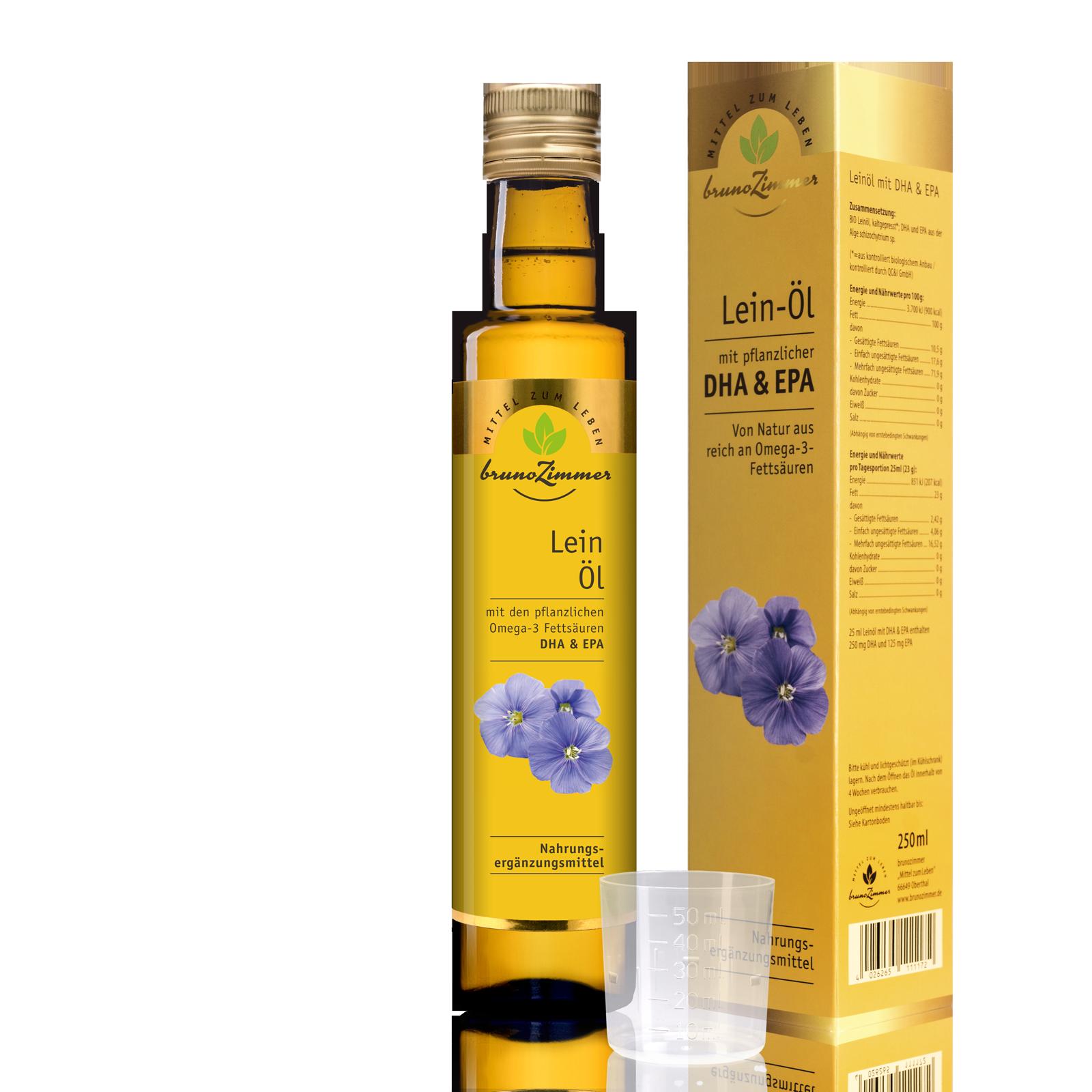 Bio Leinöl Mit Dha Epa 250ml Speiseöle Speiseöle Mittel Zum