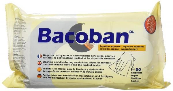 Bacoban® Flächendesinfektion wasserbasiert 50 Fertigtücher